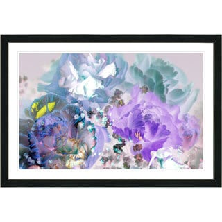 Studio Works Modern Framed Fine Art Floral Still Life Painting 'Pastel Scented Bloom' Wall Art Giclee Print by Zhee Singer