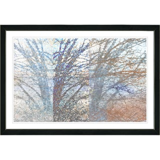 Studio Works Modern Framed Fine Art Contemporary Floral 'Winter Branches' Wall Art Painting Giclee Print by Zhee Singer