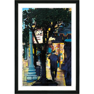 Studio Works Modern Framed Fine Art Contemporary City Street Painting Evening Walk Wall Art Giclee Print by Zhee Singer