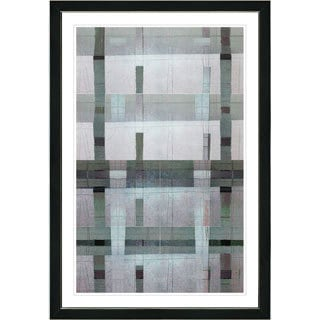 Studio Works Modern Framed Fine Art Contemporary Abstract Painting 'Afunda Series' Wall Art Giclee Print by Zhee Singer