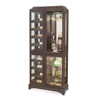 Philip Reinisch Latitude Espresso Finish Wood/Glass Beverage Cabinet