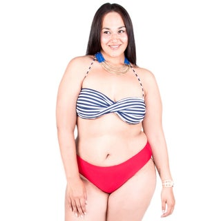 Xehar Women's Plus Size Two Piece Bikini Blossom Set (Option: 1x)