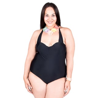 Xehar Women's Plus Size One Piece Backless Strap Bathing Suit
