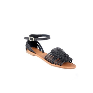 Xehar Women's Stylish Ankle Strap Braided Flat Sandal (5 options available)