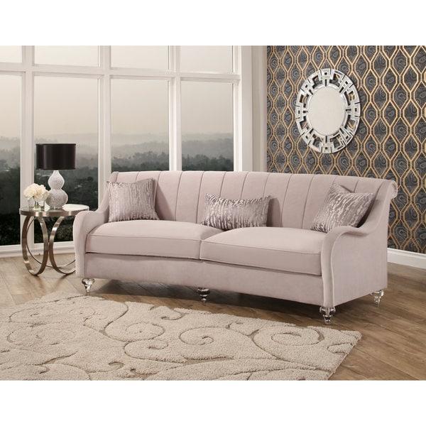 Merveilleux Abbyson Isadora Curved Velvet Sofa