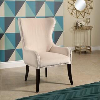 Abbyson Henri Ivory Tufted Velvet Chair