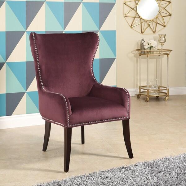 Abbyson Henri Tufted Purple Velvet Chair