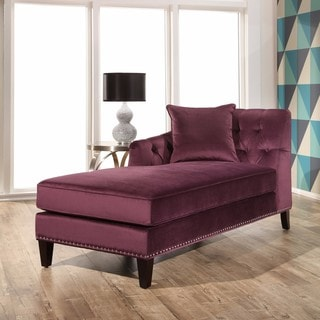 Abbyson Margot Purple Velvet Chaise