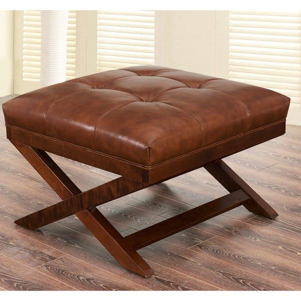 Enjoyable Shop Abbyson Tribeca Cognac Chair And Ottoman Set Free Pdpeps Interior Chair Design Pdpepsorg