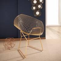 Abbyson Living Alexa Goldtone Iron Accent Chair