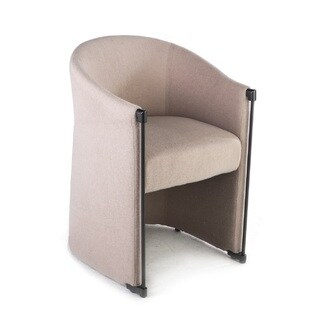 Hans Andersen Home Elida Stainless Steel and Fabric Arm Chair