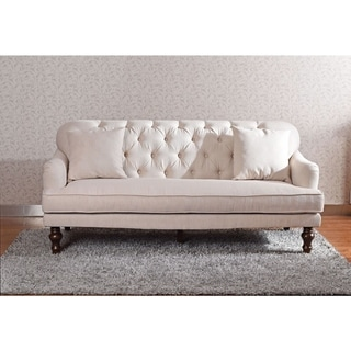 Carthage Ivory Linen Sofa