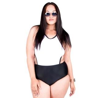 Xehar Women's Plus Size One Piece Open Back Swimsuit (Option: 1x)