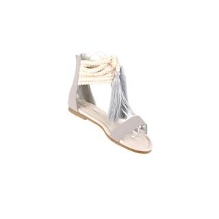 Xehar Women's Ankle Strap Tassel Flat Sandal (5 options available)