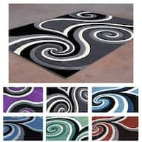 Contemporary Swirl Super Soft Area Rug - 8' x 10'