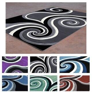 Contemporary Swirl Super Soft Area Rug (8' x 10')