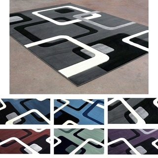 Soft Contemporary Modern Geomtric Cubic Pattern Area Rug (8' x 10')