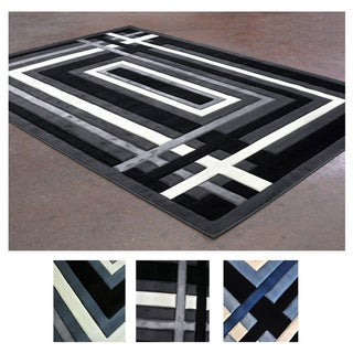 Casual Linear Pattern Super Soft Area Rug (8' x 10')
