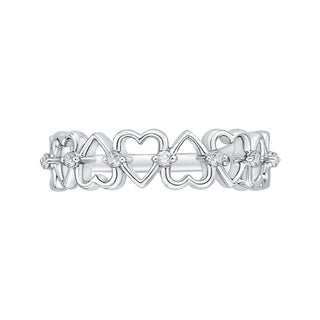 14K White Gold 1/8ct TDW Diamond Heart Ring (G-H, I2-I3)