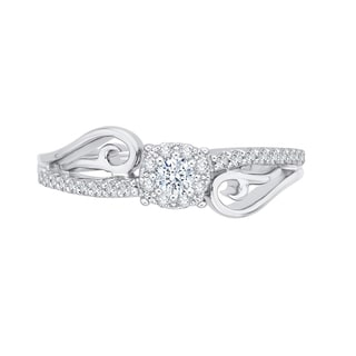 14K White Gold 1/4ct TDW Diamond Fashion Ring (G-H, I2-I3)