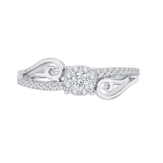 14K White Gold 1/4ct TDW Diamond Fashion Ring (G-H, I2-I3)