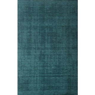 Bradley Teal Wool Area Rug by Greyson Living (8' x 10')