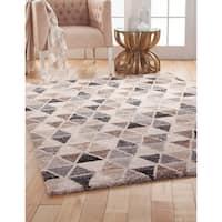 Greyson Living Shea Grey/Brown/Charcoal Olefin Area Rug (7'10 x 11'2) - 7'10 x 11'2