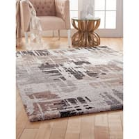 Renn Chocolate/ Medium Brown/ Grey/ Ivory Olefin Area Rug by Greyson Living (7'10 x 11'2) - 7'10 x 11'2