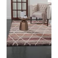 Hazel Chocolate/ Light Brown/ Rust/ Ivory Olefin Area Rug by Greyson Living - 7'10 x 11'2