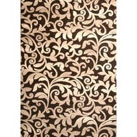 Louisa Chocolate/ Ivory Area Rug by Greyson Living - 5'3 x 7'6