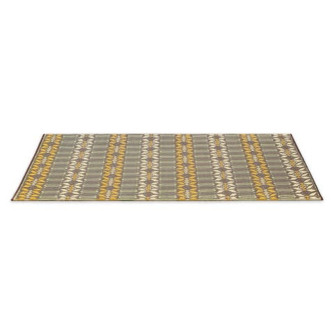 Kotter Home Moroccan Reversible Indoor / Outdoor Mat - 4' x 6'