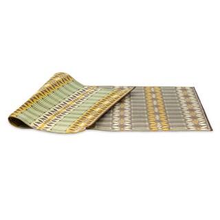 eLuxurySupply Arts and Crafts Moroccan Reversible Indoor/Outdoor Mat (6' x 9')