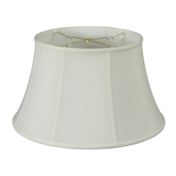 Royal Designs Regal Series Billiotte White 19-inch Shallow Drum Bell Lampshade
