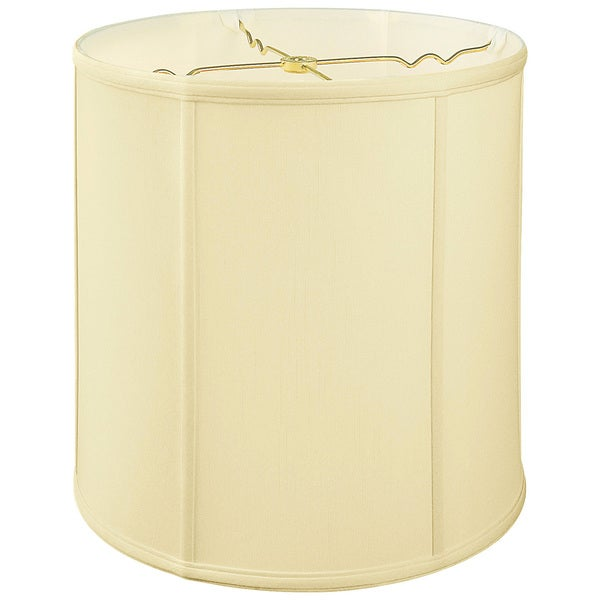 Royal Designs Regal Series Off White Fabric 15 Inch Basic Drum Lampshade