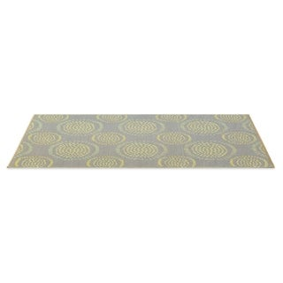Molly Grey/Yellow Reversible Indoor/Outdoor Mat (4' x 6')