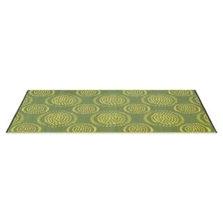 eLuxurySupply Molly Green/Yellow Reversible Indoor and Outdoor Mat (4' x 6')