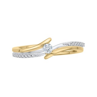 14K Two-Tone Gold 1/5ct TDW Diamond Fashion Ring (G-H, I2-I3)
