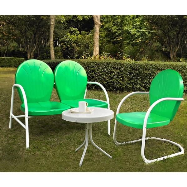 Shop Griffith 3 Piece Metal Outdoor Conversation Set ... on Safavieh Outdoor Living Granton 5 Pc Living Set id=40842