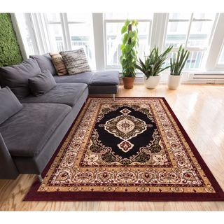 Well Woven My Home Soft Value Traditional Medallion Formal Polypropylene Rug (5' x 7'2)