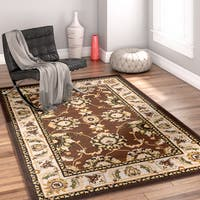 "Well Woven Traditional Medallion Brown Area Rug - 3'3"" x 5'"