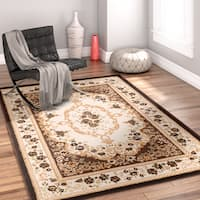 Well Woven Traditional Medallion Brown Area Rug - 9'3 x 12'6