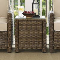 Bradenton Brown Wicker Rectangular Outdoor Side Table
