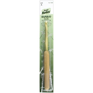 "Bamboo Handle/Silvalume Head Crochet Hook 5.5""-Size J10/6mm"