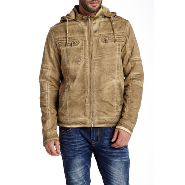 XRAY Men's Chester Woven Dye-washed Jacket