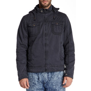Xray Jeans Men's Blue Terry Woven Dye Washed Jacket