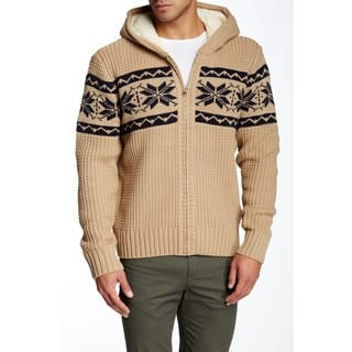 Mason Men's Khaki Knit Zip-up Hooded Sweater|https://ak1.ostkcdn.com/images/products/15075106/P21565407.jpg?impolicy=medium