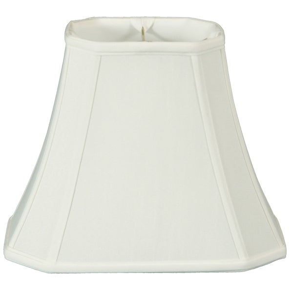 Royal Designs Regal Series White 14-inch Rectangle Cut-corner Lamp Shade