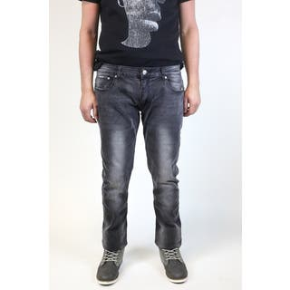 XRAY Men's Black Denim/Cotton Edmond Jeans with Grindings|https://ak1.ostkcdn.com/images/products/15075122/P21565415.jpg?impolicy=medium