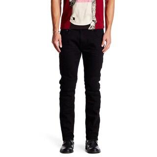 Xray Men's Moto Clifford Light Wash Denim Spandex Jeans