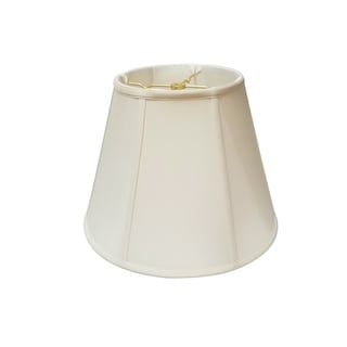 Royal Designs Regal Series Off-white Fabric 14-inch Modified Bell Lampshade